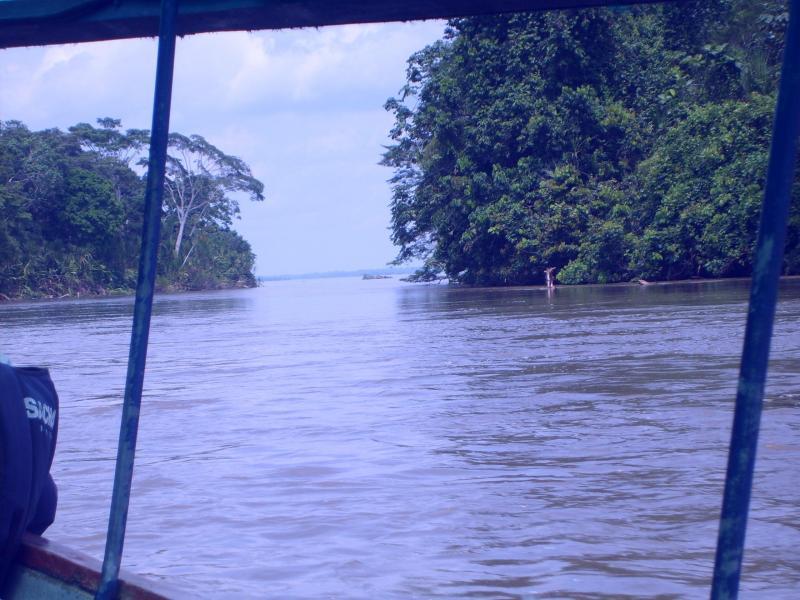 Canoë sur la rivière Rio Napo