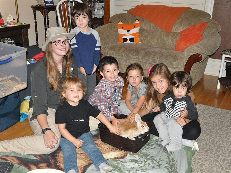 Léanne, Mélia, Léo, Étienne, Éloise et Nathan