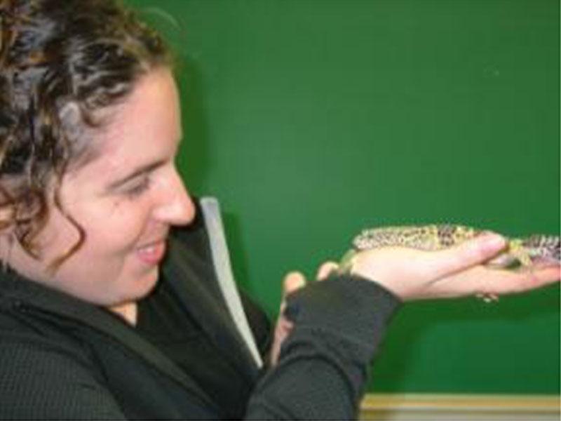Catherine avec un Gecko léopard